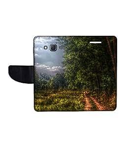 KolorEdge Printed Flip Cover For Samsung Galaxy J5 Multicolor - (1478-50KeMLogo10507SamJ5)
