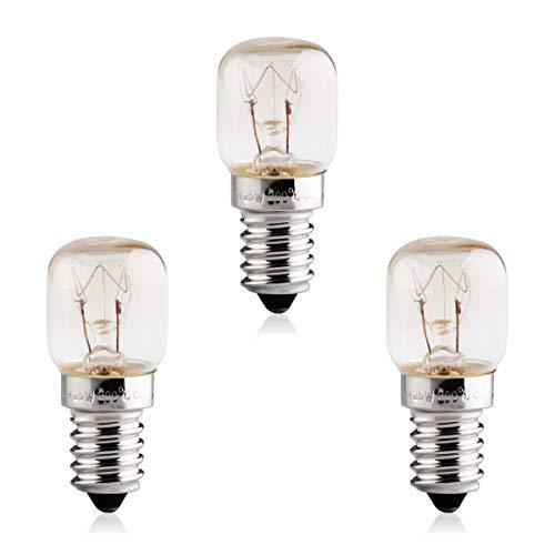 B4U 3 x 25W SES E14 Kleine Screw Base, Backofen Glühbirnen für Backofen, Kühlschrank, Salzlampe, Nachtlicht, Pygmäenlampen, 300 ° C Mikrowelle -