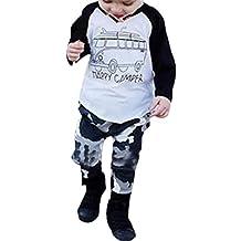 Per 1~ 3 anni,Amlaiworld 1set Cool Baby Boy manica lunga stampa t-shirt Top + Pantaloni