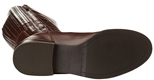 Clarks - Marquette Silk, Stivaletti Donna Marrone (Dark Brown Lea)