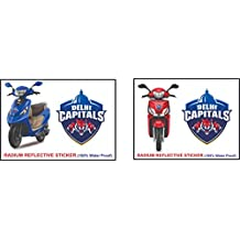 Just rider IPL Cricket Team Sticker for car,Bike & scooty ! (Delhi Capitals)