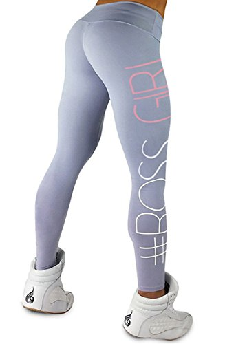 Shelers BOSS GIRL Damen Skinny Leggings Jogging Training Sporthose Push Up Yogahose 2017