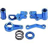 Dilwe Steering Servo Saver Completo Piezas Kit, Aleación de Aluminio Servo Protector para Traxxas Slash