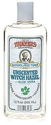 Thayers Alcohol-Free Witch Hazel with Organic Aloe Vera Formula Toner, Unscented 12 oz (Pack of 4)