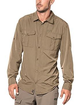 Jack Wolfskin–Giacca Atacama Roll-up camicia, Uomo, Sand Dune, XXXL