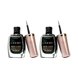Lakme Insta Eye Liner, Black, 9ml (Pack of 2)