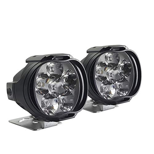 Lorsoul 2ST / Set Motorrad Externe LED-Scheinwerfer 6 LED 8W 1000LM 6500K Licht Ersatz-Set High Brightenss