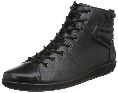 ECCO Soft 2.0, Stivaletti Donna Nero(Black With Black Sole 56723)