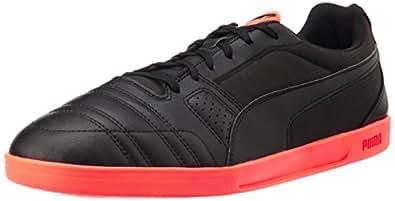 Puma Men's Paulista Novo Black and Lava Blast Football Boots - 7 UK/India (40.5 EU)