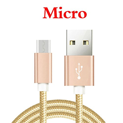 "Câble Micro USB [2m] - PowerLine Cable pour Samsung Galaxy Tab A 8.0""/Tab A 7.0"" Tablette - Charge /Synchro Ultime Rapide [Or]"