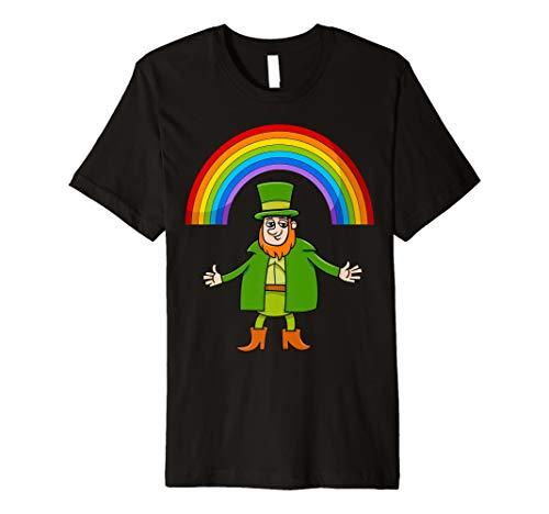 ST PATRICKS DAY T-Shirt: Leprechaun Rainbow Happy Dance Tee
