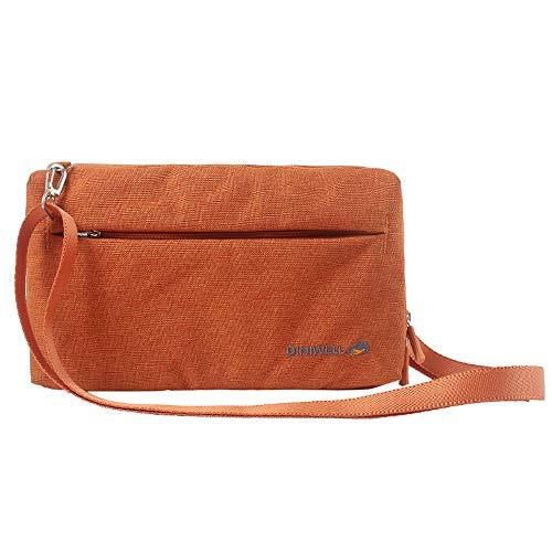 KEENICI Multifunktions-reisepass reisebrieftaschen Reisetasche RFID Blocking Document Organizer Fall für Männer Frauen (Orange 012)