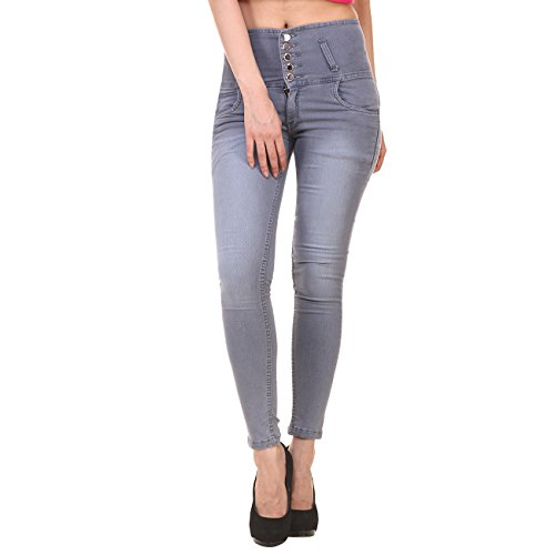 Generic Women's Denim Slim Fit Jeans with 5 Button 1