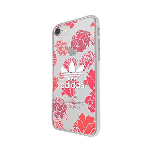 adidas 26333 Originals Clear case bohemian Schutzhülle für Apple iPhone 7 rot Rot