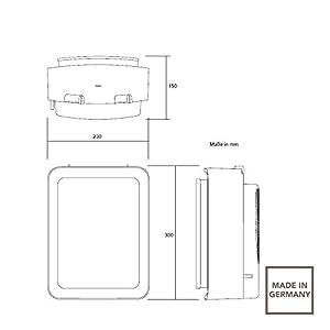 AEG HS207 234829 – Calefactor, 1800 W, color naranja