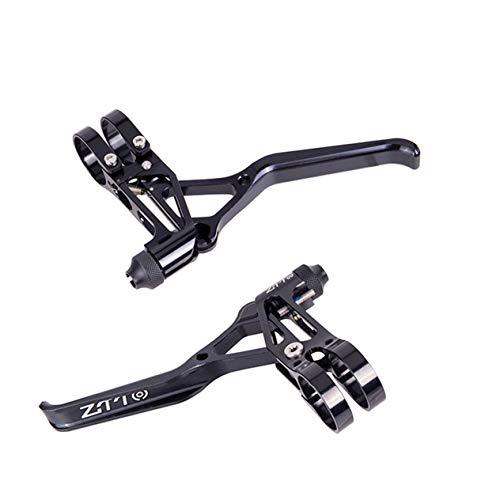 EdBerk74 1 para Aluminium Fahrradbremsen V Bremshebel Bremskappen Griff Mountainbike 2finger MTB Fahrrad BMX V-Brake-schwarz -