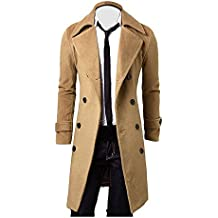 buy online 0b917 93ff1 cappotto uomo lungo elegante - Beige - Amazon.it
