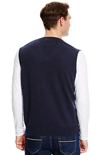 AARHON - Pull - Pull - Sans Manche - Homme Bleu Marine