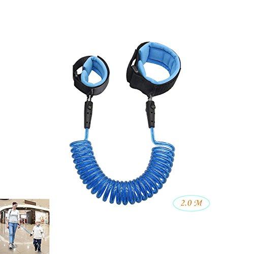 Baby Anti Lost, Kind Anti Lost Sicherheit Klettverschluss Handgelenk Link Von FOTEEK, Strap für Reise Draussen Einkaufen, Kinder Soft Harness und Starke Flexibel Gurt (Blau)