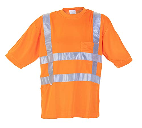 Hydrowear 040412OR Toscane Thermo Line T-Shirt, 100% Polyester, XXL, Orange - Polyester-thermo-shirt