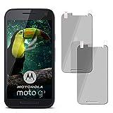 moex 2X Motorola Moto G3 | Spiegelfolie Bildschirm Schutz verspiegelt [Mirror] Screen Protector Handy-Folie Bildschirmschutz-Folie für Motorola Moto G 3. Generation Schutzfolie vorne Spiegel
