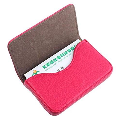Kolylong® Credit Card Holder PU Leder Magnetic Geschäfts card Case Kasten Halter (Hot Pink) (Business Card Case Frauen)