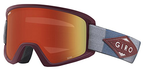 Giro Herren SEMI Skibrille, Maroon/Titanium Mountain Division, One Size