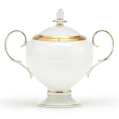 Noritake Rochelle Gold Sugar Bowl with Cover, 9-ounces Gold Sugar Bowl