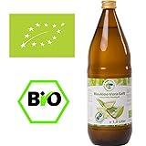 Bio Aloe Vera Saft 1l, naturtrüber Direktsaft, handfiletiert, aus kontrolliert biologischem Anbau, Abfüllung in Deutschland in dunkle Glasflaschen