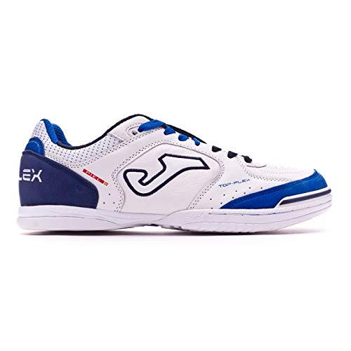 Joma Top Flex, Chaussure de Futsal, White-Blue