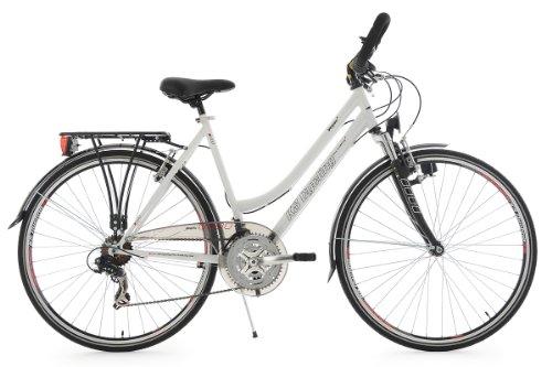KS Cycling Damen Fahrrad Trekkingrad Vegas RH Multipositionslenker, Weiß, 28 Zoll, 112T