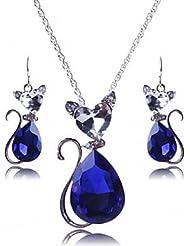 z&x® europa todo conjunto de joyas de cristal gato partido (incluyendo collares pendientes)