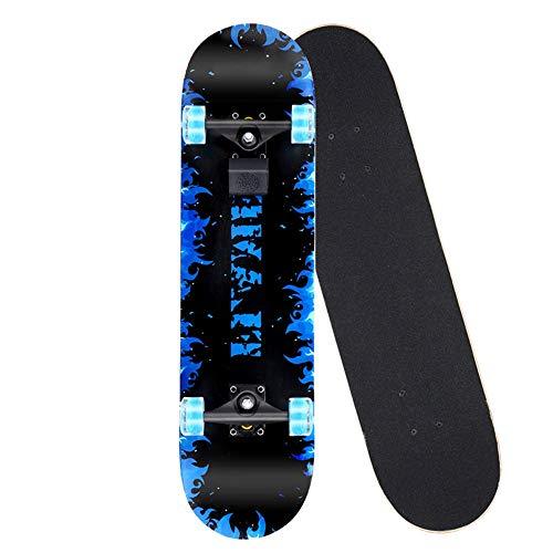 OaLt-t Bluetooth Musik vierrädrigen Roller Anfänger Teenager Erwachsenen Pinsel Straße Flash Wheel Skateboard (Color : B) (Und Roller Trucks Skate Wheels)