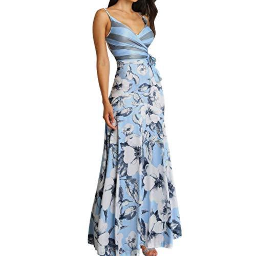 Frauen Blumendruck Cocktail Party Kleid Plus Size Frauen Casual Sommer Blumendruck gewickelt gebunden Seite Maxi-Kleid
