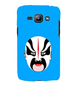 iFasho Modern Art Design painted Faces Back Case Cover for Samsung Galaxy J1 (2016 Edition)