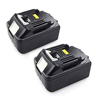 2 Stück 18,0V 5,0Ah Akku für Makita BL1850 196672-8 Li Ion Werkzeugakkus LG Zellens ( Ersetzen BL1840B BL1830 BL1815)