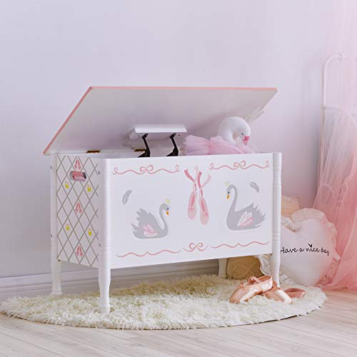 bianco//rosa Fantasy Fields TD-12890A Tavolo da bagno Vanity Swan Lake Ballerina Tavolo da toeletta per bambini