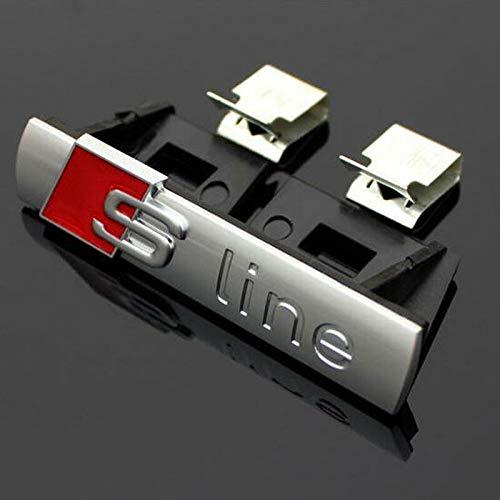Matt Silver 69mm x 14mm S Line Front Grill Bonnet Badge Emblème Pour A1 A2 A3 A4 A5 A6 A8 TT S3 S4 S4 S5 S6 S7 S8