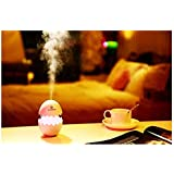 Romino USB Car Fresh Air Humidifier Funny Easter Egg Design Aroma Cool Mist Ultrasonic Portable Diffuser 7 Color LED Night Light Quiet Humidifier With Timed Auto Shut Off For Office Baby Room Or Car