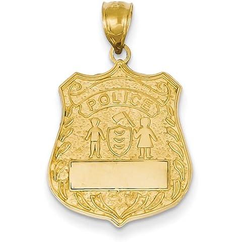 Icecarats Designer Di Gioielli 14K Grande Polizia Ciondolo (Distintivo Della Polizia Pendente)