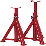 Sealey AS2000F TUV/GS Folding Type Axle Stands, 2 t Capacity per Stand, Set of 2