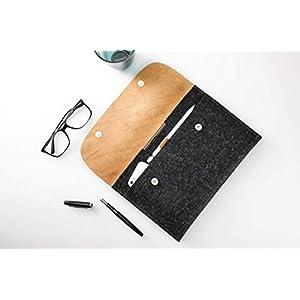 CitySheep Hülle für iPad Pro 10.5 zoll iPad Pro 10.5 mit Keyboard oder Smart Cover Leder und Filz Tasche | iPad Pro case