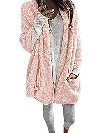 5d72b3ca0890 Damen Pullover Jacket Lang Mantel Sweatjacke Kapuzenjacke Sweatshirt Langarm  Winterjacke Herbst Long Sleeve Thick Hooded Open
