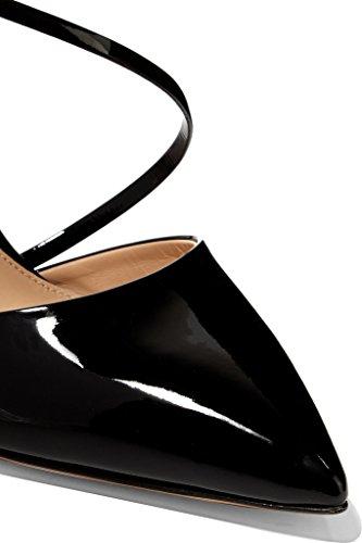 Kolnoo - Scarpe con cinturino alla caviglia Donna Nero