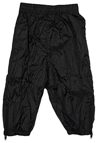 Baby Kleinkind Jungen Mädchen Regenbeständig Hosen Reißverschluß Knöchel Gefüttert Hose größen von 3 bis 24 Monate - Schwarz, 80