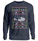 AP SHIRTZ Ugly Christmas Pulli Feuerwehr - Unisex Pullover -XL-Oxford Navy