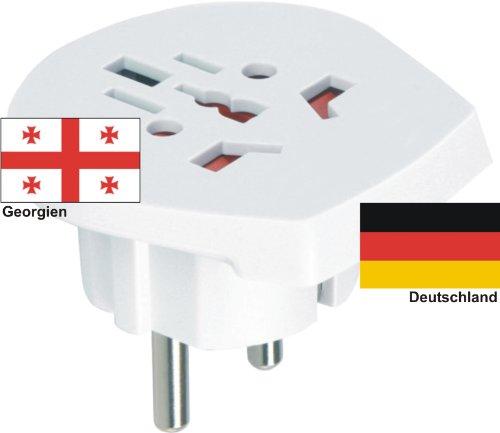 Design Reiseadapter Deutschland auf Georgien für div. ausländische Gerätestecker in EU nutzen