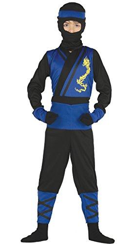Guirca Kostüm Ninja blau, Größe 5–6Jahre (87474.0)