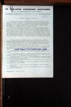 BULLETIN FINANCIER QUOTIDIEN DE LA DOCUMENTATION PAUL DEHEME (LE) [No 9462] du 09/03/1972 - LA BOURSE DE PARIS.