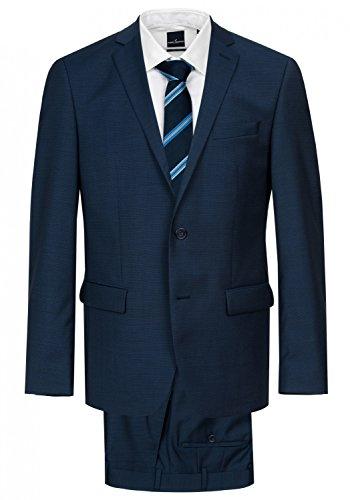 Daniel Hechter - Modern Fit - Herren Baukasten Anzug aus reiner Schurwolle in blau oder schwarz, meliert (7993), Größe:26, Farbe:Blau (62) (Anzug Merino-wolle Italienischer)